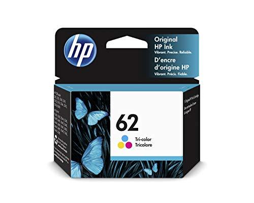 HP 62 C2P06AE, Tricolor, Cartucho de Tinta Original, compatible con impresoras de inyección de tinta HP ENVY 5540, 5640, 7640;OfficeJet 200, 250, 5740