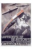Herbé TM Flugzeug St Gallen 1935 Rf1278 Poster /
