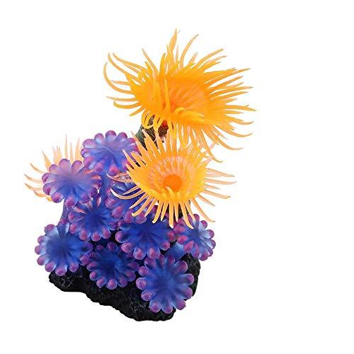 N\A 1 Packung künstliche Koralle für Aquarien, Aquarium, Landschaft, große Aquarium-Pflanzen, Silikon, Dekoration