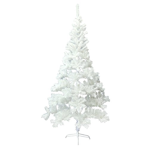 ALEKO CTW83H13 Artificial Holiday Christmas Tree Premium Pine with Stand 7 Foot White