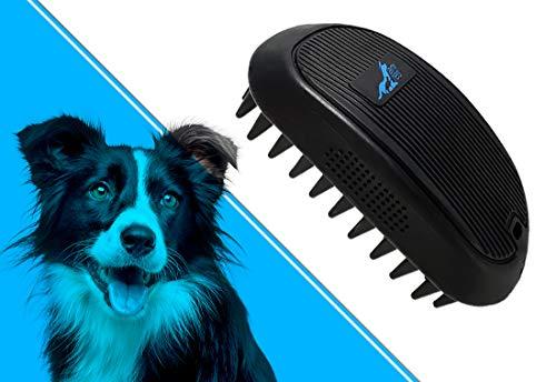 anires speiki - Fellpflegebürste/Hundebürste/Tierhaarbürste reduziert Loses Haar und Gerüche. Für mittellanges/langes Fell. Abwaschbar, hygienisch, klein. 1 Stück, schwarz