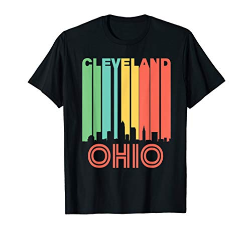 Retro 1970's Cleveland Ohio Cityscape Downtown Skyline Shirt