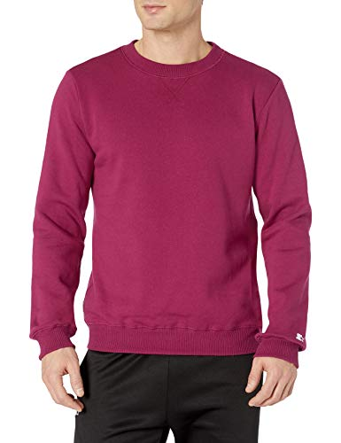 Starter Men's Standard Solid Crewneck Sweatshirt, team maroon, XL
