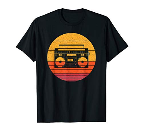 Retro Boombox Portable Music Player Vintage Style Music Gift T-Shirt