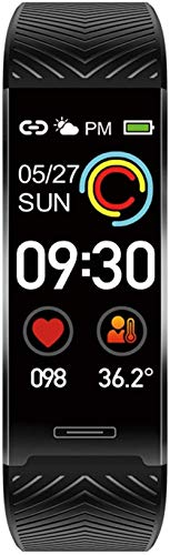 Reloj inteligente deportivo con correa inteligente para iPhone Xiaomi Huawei Andriod IOS (color rojo) y negro