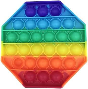 Ynzix Rainbow Pop Bubble Fidget Sensory Toy (Octagon)