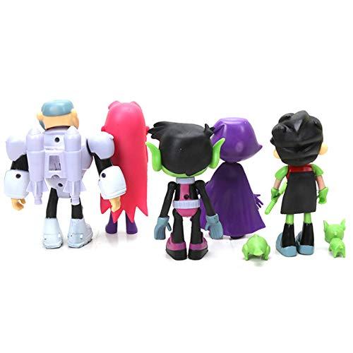 Appoo Piezas Teen Titans Go Figuras de acción Teen Titans Go Figuras de PVC Juguete Juvenile Titan Tema Fiesta Suministros Colección Figura Modelo Muñeca Regalo para Mesa Accesorios de masterly