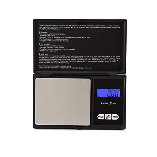 CHOUCHOU Colgante Pendientes Balanza Digital portátil Mini Escala de la joyería 0,01 g / 0,1 g Plataforma de la báscula electrónica for la joyería de la Hoja de té de la Cocina de