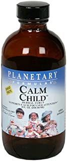 Planetary Herbals Calm Child Herbal Syrup - Includes Soothing Botanicals Chamomile, Lemon Balm, Catnip & More - 8oz