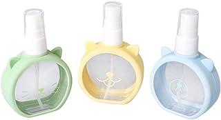 Solustre 3pcs Empty Spray Bottle Mist Sprayer Bottle Portable Pump Bottle for Al cohol Hair Cleaning Solutions Cosmetic Skincare Lotion (Random Color)