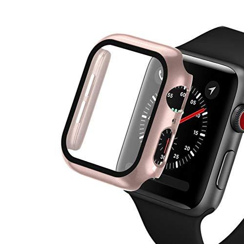 Vidrio + estuche para Apple Watch serie 6 5 4 3 SE 44mm 40mm para iWatch Case 42mm 38mm parachoques Protector de pantalla + cubierta para apple watch Accesorio