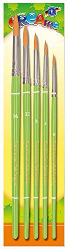Feuchtmann Spielwaren 6347009 - CREAme Feinhaar-Pinsel-Set, Größen 16, 12, 8, 4 und 0