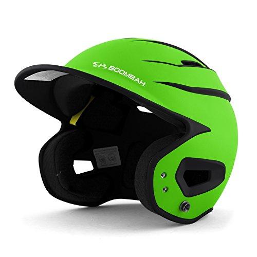 Boombah DEFCON Batting Helmet Sleek Profile Lime Green/Black - Size Junior 6 1/4' - 7'
