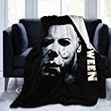 Hallo-ween Mic-hael My-ers Ultra-Soft Warm Micro Fleece Throw Blanket Sherpa Plush Fleece Wearable Throw Blankets for Bed Couch Living Room (60'x50' inch)