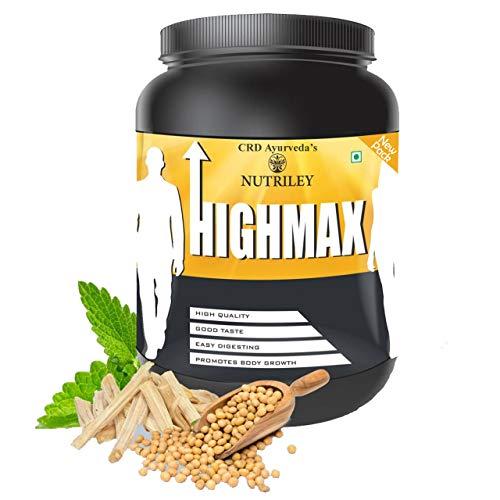 CRD Ayurveda Highmax Body Growth Supplement - 500 g (Vanilla)
