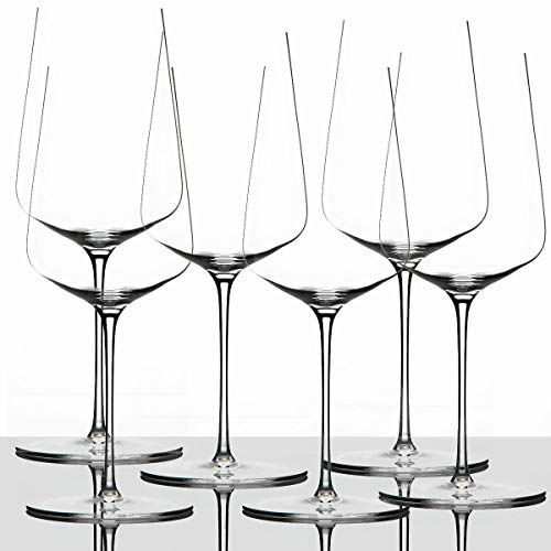 Zalto Denk'Art Universal Wine Glass, Set of 6 Crystal Glasses for Red and White Wine