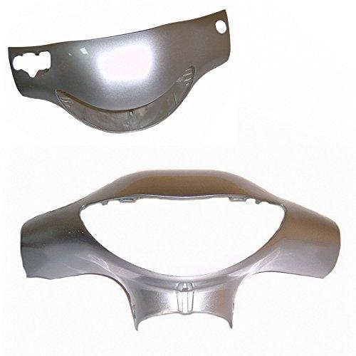 VERKLEIDUNG SCHEINWERFER / LAMPENMASKE in silber metallic z.B. passend für REX RS 400 / RS 460 / AGM GMX und baugleiche.... SHENKE JONWAY JINAN QINGQI