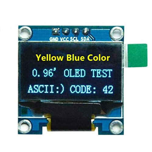 0.96' Yellow Blue/Blue/White I2C Iic Serial OLED Lcd LED Module 128X64 For Arduino Display Raspberry Pi 51 Msp420 Stim32 Scr [ Yellow-Blue ]