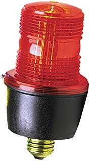 Federal Signal LP3E-120R Streamline Low Profile Strobe Light, 120 VAC, Edison A-19 Screw-in Base, Red