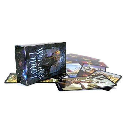 SYJH Witches kartenspiel Tischspieldeck, Zukunftsprognosekarten Hexentarot Schicksal 78 Karten Indikator Geschenk