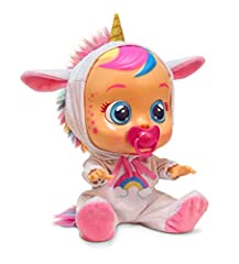 Meet Cry Baby Dreamy the Unicorn! Just add water and she will magically cry real tears! Take out her pacifier and she will start crying like a real baby! Help soothe Dreamy by putting her pacifier in her mouth or gently rocking her She comes with an ...