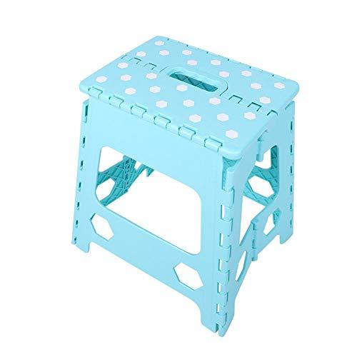 Deryang Silla para niños, Taburete Escalonado Plegable portátil para Adultos, Silla pequeña, Taburete Escalonado, Taburete pequeño, para Acampar niños(Blue)