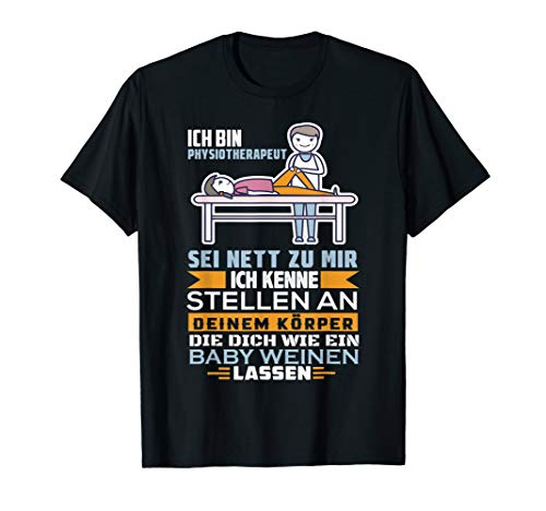 Physiotherapeut Physio Geschenk Physiotherapie Osteopathie T-Shirt