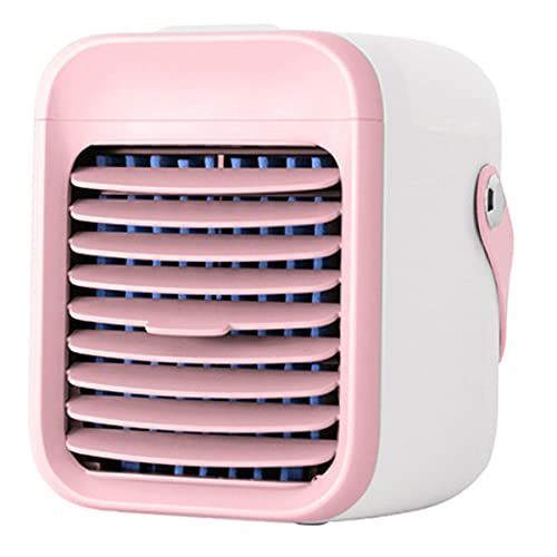 YGTMV Condizionatore d'Aria Portatile,Air Cooler con 3 velocità del Vento Regolabili USB Umidificatore Purificatore 7 Colori Adatto,per L'home Office,Rosa