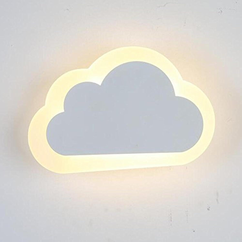 GHKLGY wall lamp,10W f¨1hrte Acryl Nachttischlampe Wandlampe Wandbeleuchtung dekorative Beleuchtung Wolken