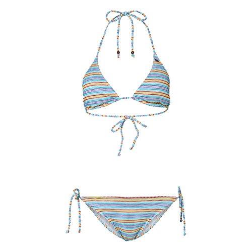 O 'Neill Bikini PW Stripe Triangle, Mujer, Bikini PW Stripe Triangle, Blue AOP