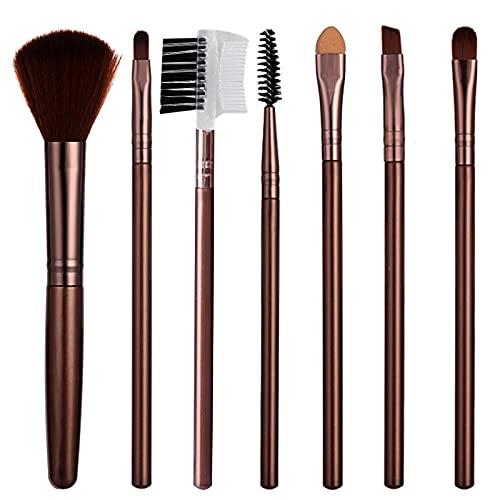 TouGod 7PCS Set di pennelli professionali per trucco volto ombretti e Eyeliner Powder liquido Makeup Brushes Cosmetics-Pennello da sfumatura