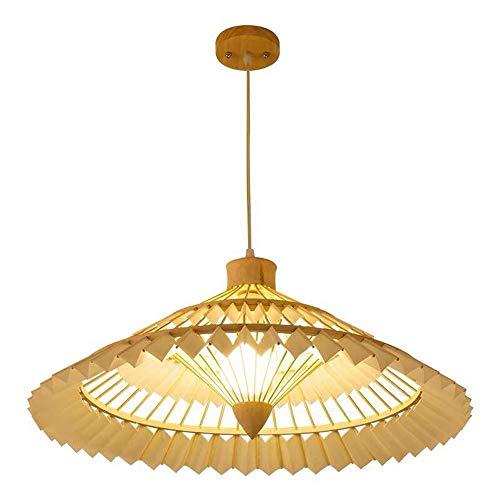 PGONE Paraguas Creativo Lámpara Colgante Lámpara De Bambú Natural Lámpara Hecha A Mano Sombra De Ajuste Estilo del Sudeste Asiático Lámpara Colgante De Techo Accesorio E27