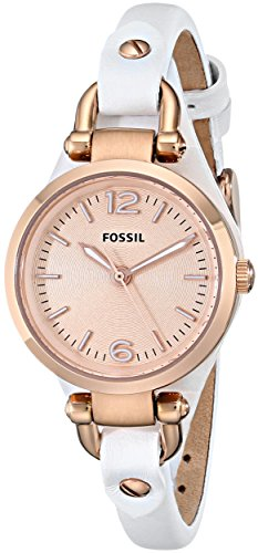 Fossil Damen-Armbanduhr XL Retro Traveler Analog Quarz Leder ES3265