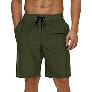 SILKWORLD Mens 9″ Board Shorts Swim Trunks Athletic Swimwear with Pockets