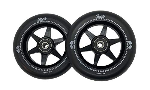 Liberty Pro Scooters - 110mm Sixstar Pro Freestyle Scooter Wheels (Pair) (Black)