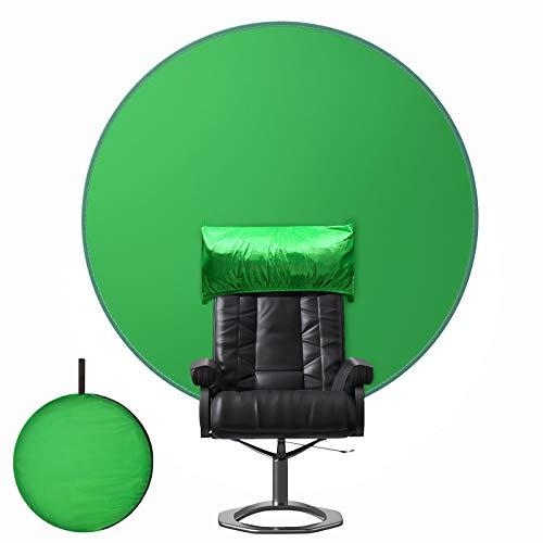 Bubulii Green Screen,Portatile Telo Verde Green Screen sedia,Diametro 142 cm Sfondo Fotografico...