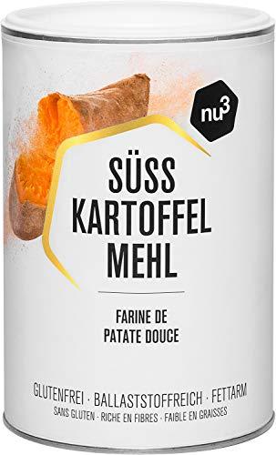 nu3 Süßkartoffelmehl - 500g aus frischen Süẞkartoffeln - für glutenfreies und veganes Backen - passt zur Paleo-Ernährung - nur 2% Fettgehalt - 100% natürlich - glutenfreie Alternative zu Weizenmehl