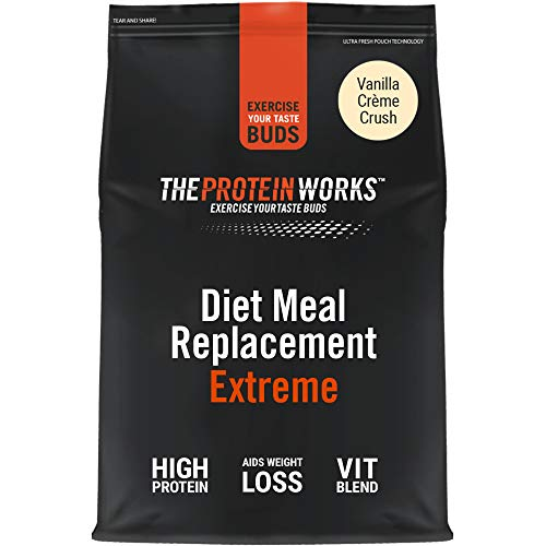 THE PROTEIN WORKS Diet Meal Replacement Extreme | Seen On This Morning ITV | Nutritionally Complete Meal | Immunity Boosting Vitamins | Just Add Water | Vanilla Crème | 1 kg
