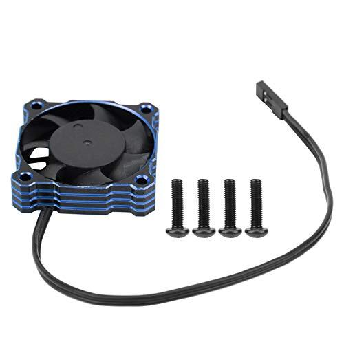 Ventilador de refrigeración RC, 40x40mm 16000RPM 5V-9V Ventilador de refrigeración de Motor eléctrico Impermeable de Alta Velocidad Apto para 1/10 1/8 1/12 RC(Azul)