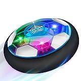Baztoy Air Power Football, Jouet Enfant Ballon de Foot Rechargeable avec LED Lumière Hover Soccer Ball Jeux de Foot Cadeau d'anniversaire pour Garçons Filles Jeux Intérieur Extérieur Sport Ball