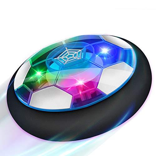 Baztoy Air Power Football, Jouet Enfant Ballon de Foot Rechargeable avec LED Lumière Hover Soccer Ball Jeux de Foot Cadeau danniversaire pour Garçons Filles Jeux Intérieur Extérieur Sport Ball