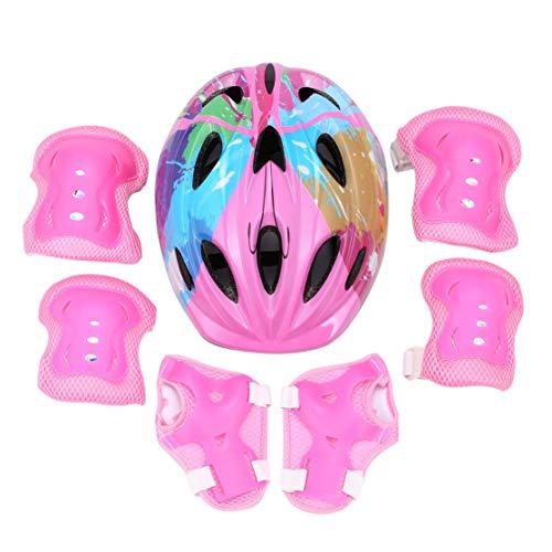 zhouweiwei 7 pcs/Set 12 Holes Skating Protective Gear Sets Codo Almohadillas Bicicleta...