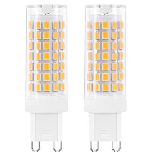 AIMHEIM 2 Stück G9 LED Dimmbar Warmweiß, 5.5W LED Maisbirne Ersatz für 60W G9 Halogen Lampen, 600LM, 2700K, G9 Fassung LED Lampen Kein Flackern, AC 220-240V