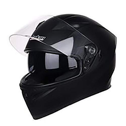 FAGavin Casco de motocicleta negro tonto para adultos, para montar en coche eléctrico, casco de motocicleta, casco de bicicleta de montaña, equipo de equitación al aire libre (talla M: M)