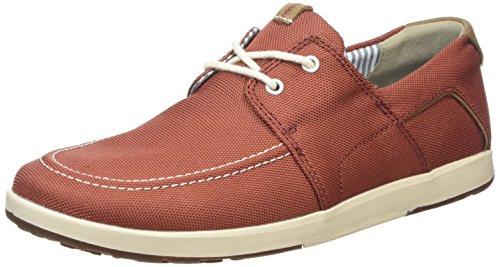 Clarks Norwin Go - Zapatos Oxford para hombre, color red synthetic, talla...