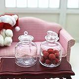 GRASARY Puppenhaus Miniatur Transparentglas Glasbehälter Simulation Pretend Play Toy, Perfekt DIY...