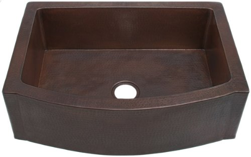 Purchase FHA33W1RFE inch Hammermarc Copper Kitchen Rounded Front Apron Front w/Flat Ends-Single