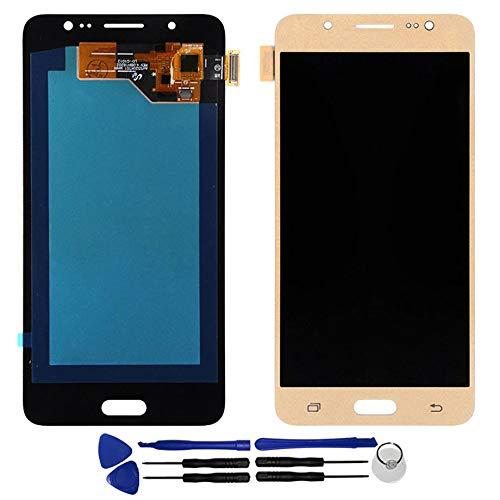 OYOG - Pantalla LCD de repuesto para Samsung Galaxy J5 2016 J510FN J510Y (marco de bisel, dorado)