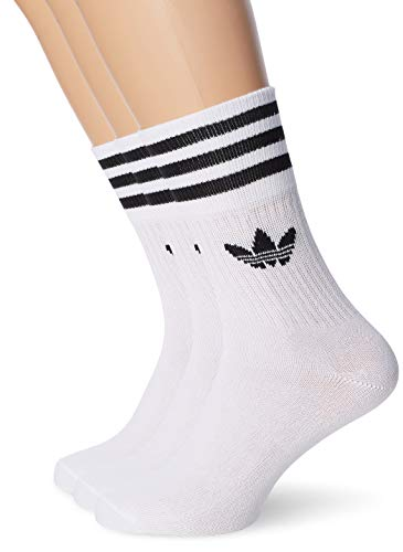 adidas Mid Cut CRW SCK Socks, Unisex Adulto, White/Black, S