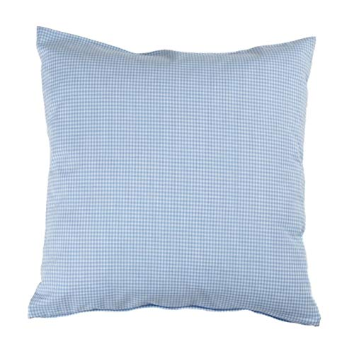 Hans-Textil-Shop Kissenbezug 40x40 cm Karo 2x2 mm Hellblau
